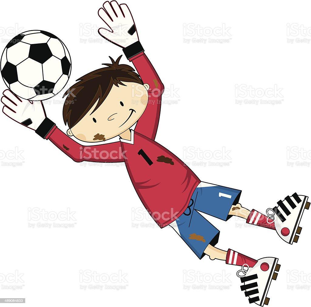 Cartoon Soccer Football Goalkeeper royalty-free stock vector art