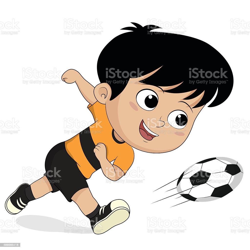 cartoon soccer kids. stock vecteur libres de droits libre de droits