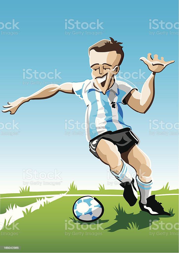 Cartoon Soccer Player Stripes vector art illustration