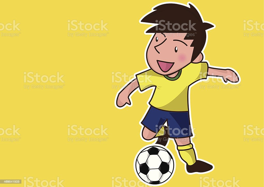 cartoon soccer player royalty-free stock vector art