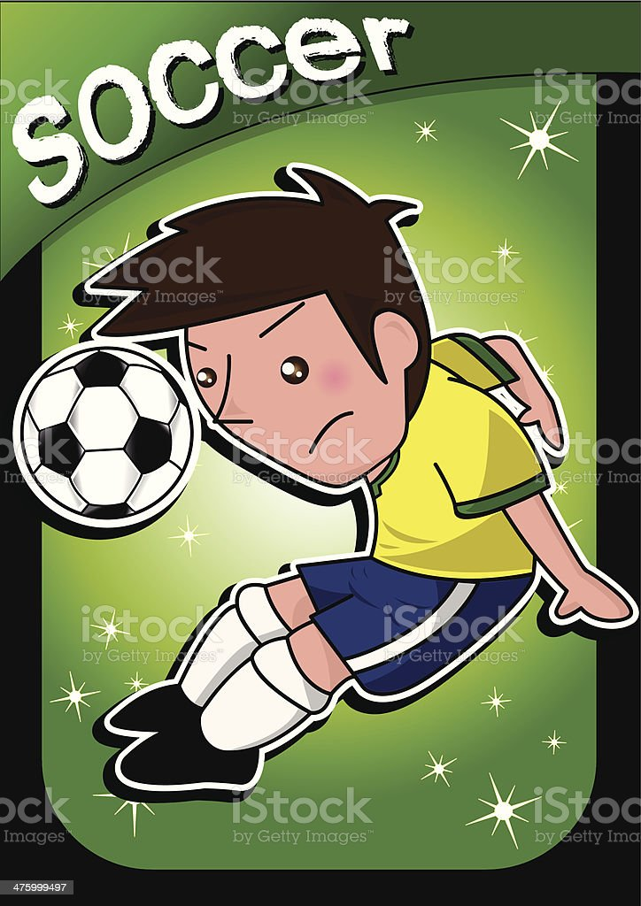 cartoon soccer player royalty-free stock vector art