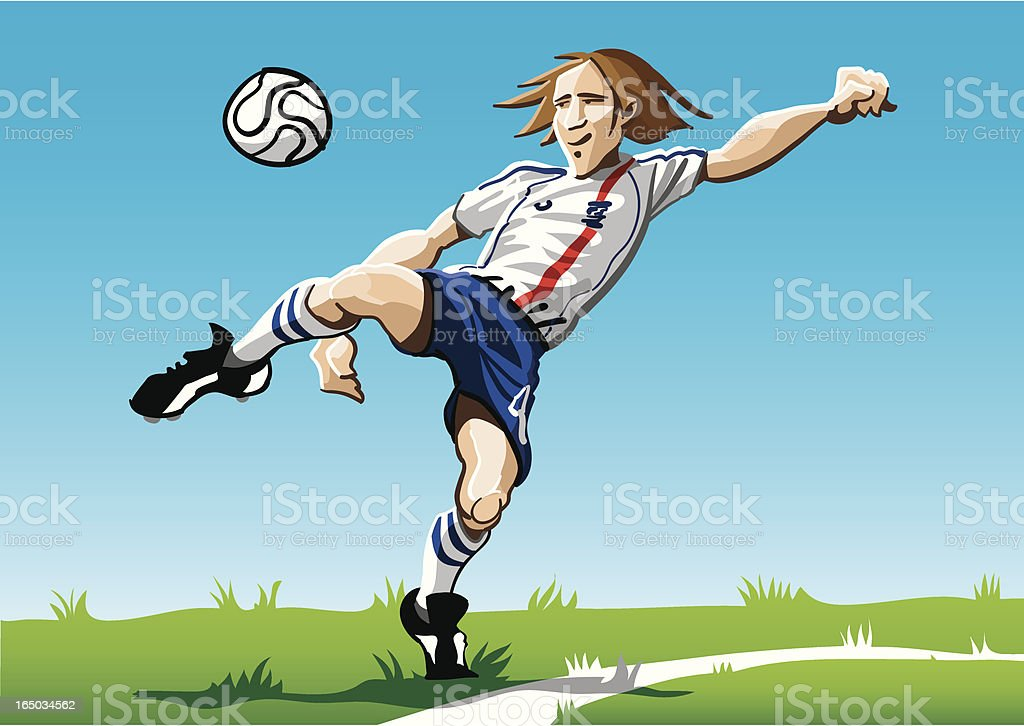 Cartoon Soccer Player White royalty-free stock vector art