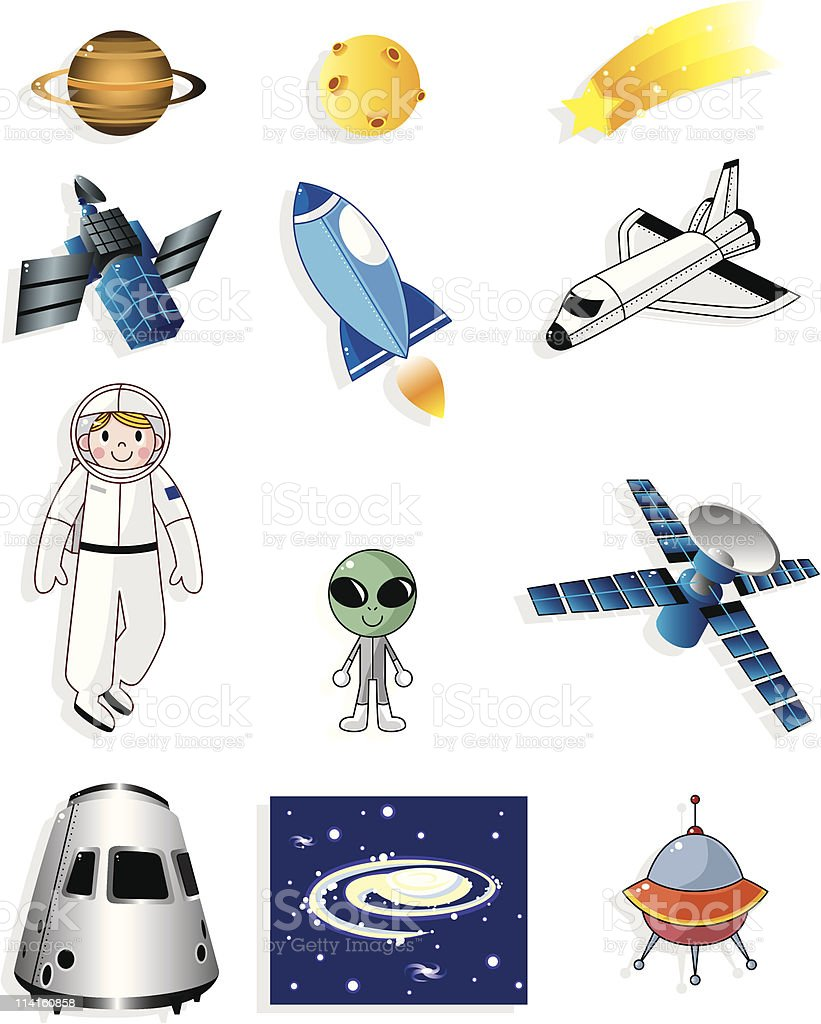 cartoon space icon royalty-free stock vector art