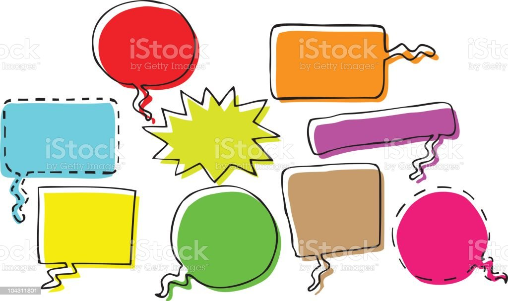 Cartoon Speech Bubbles royalty-free stock vector art