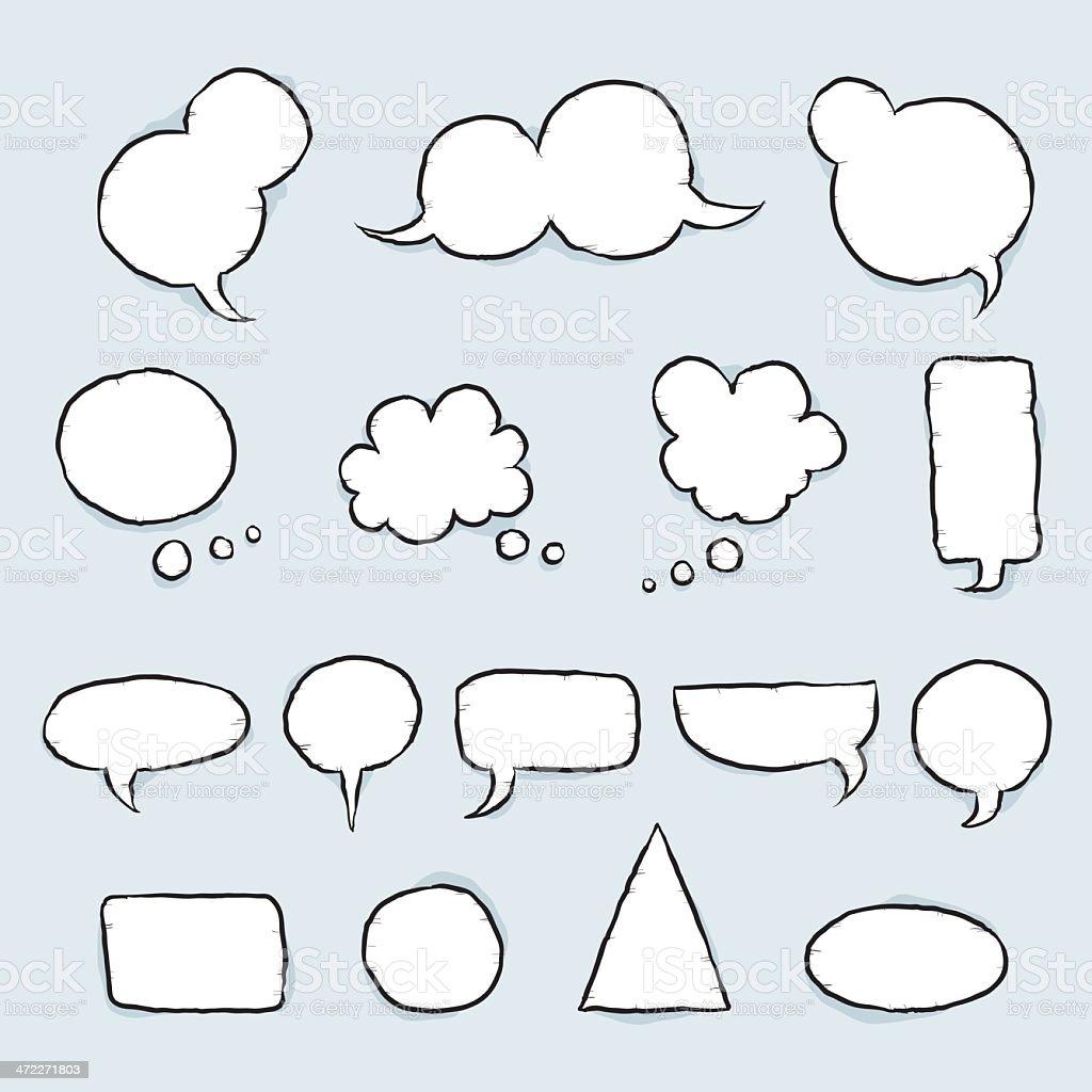 Cartoon Speech Bubbles vector art illustration