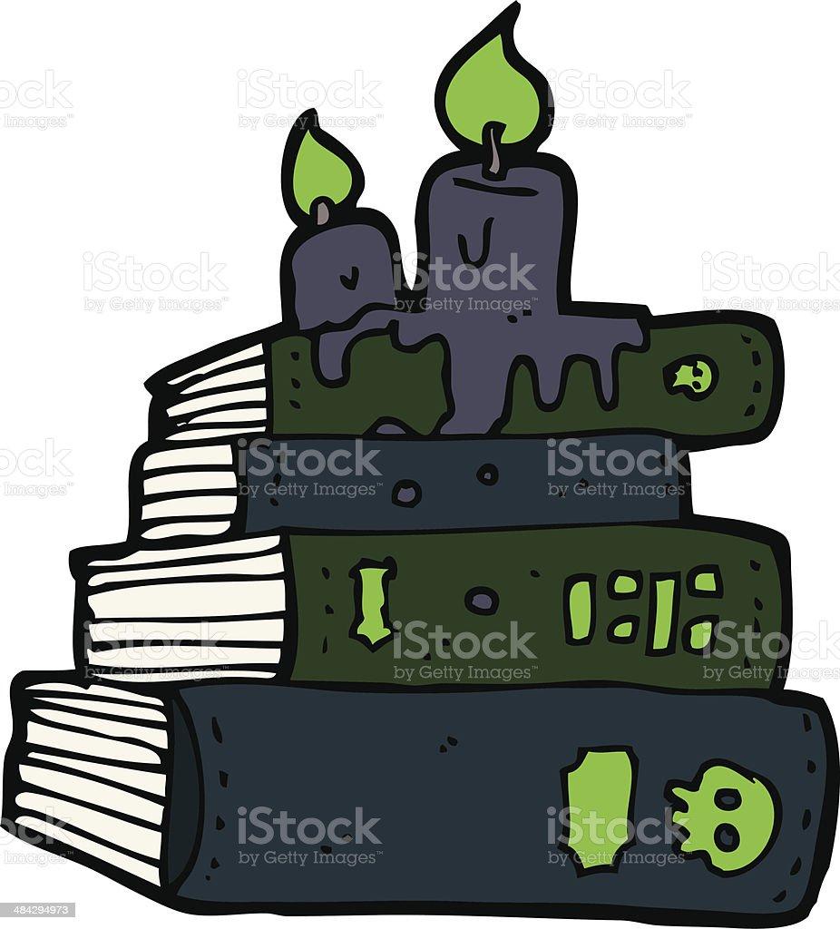cartoon spooky old books royalty-free stock vector art