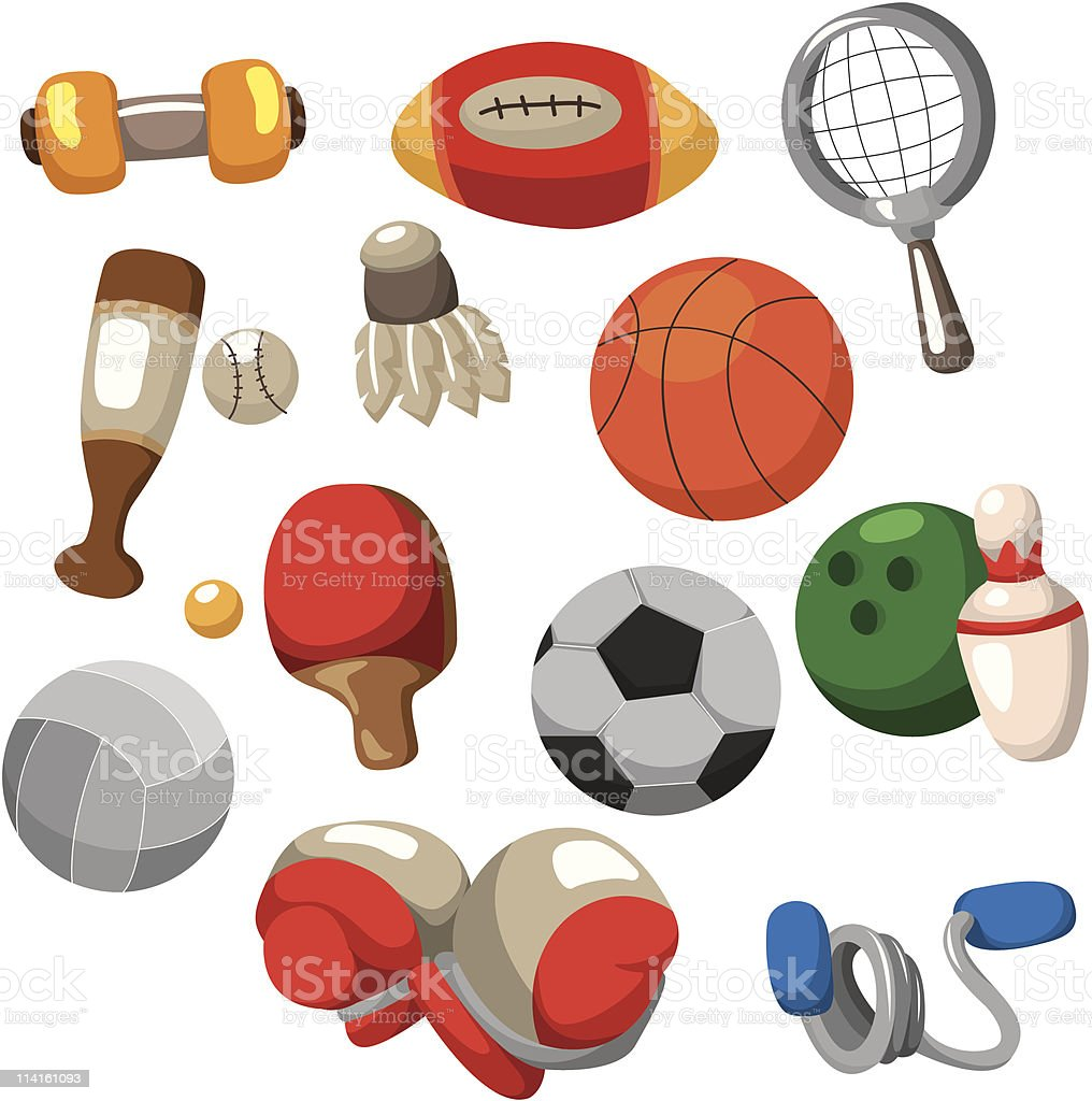 cartoon sport goods icon royalty-free stock vector art