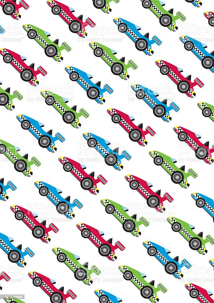 Cartoon Sports Cars vector art illustration