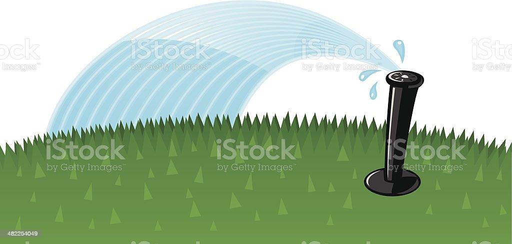 cartoon sprinkler vector art illustration