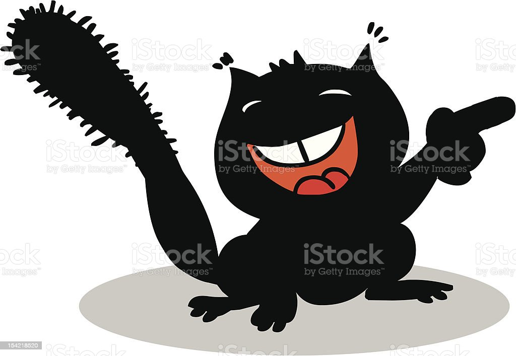 Cartoon squirrel royalty-free stock vector art