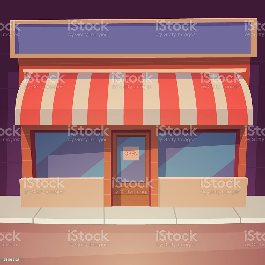 Cartoon Store vector art illustration