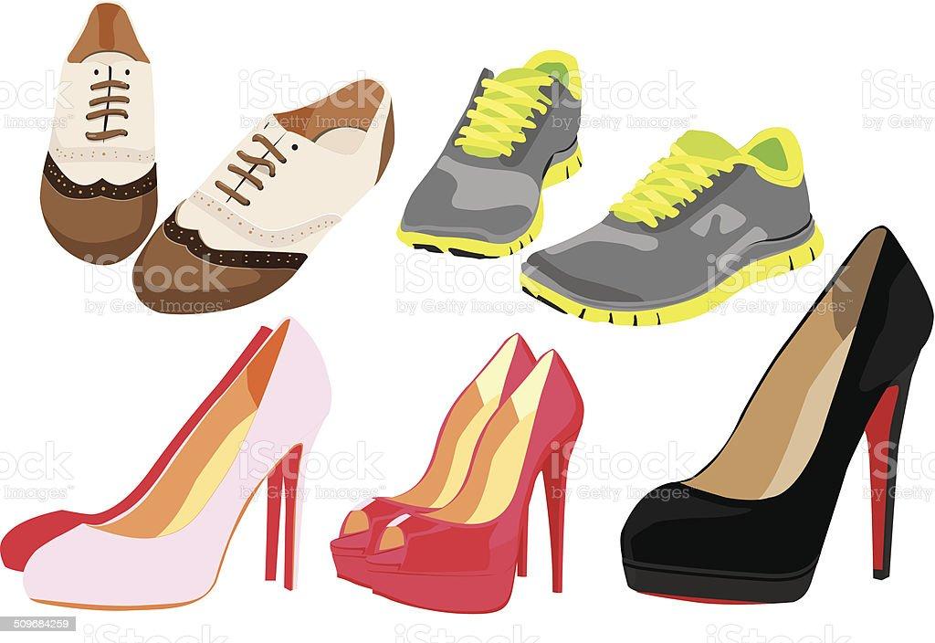 Cartoon Heel Shoe