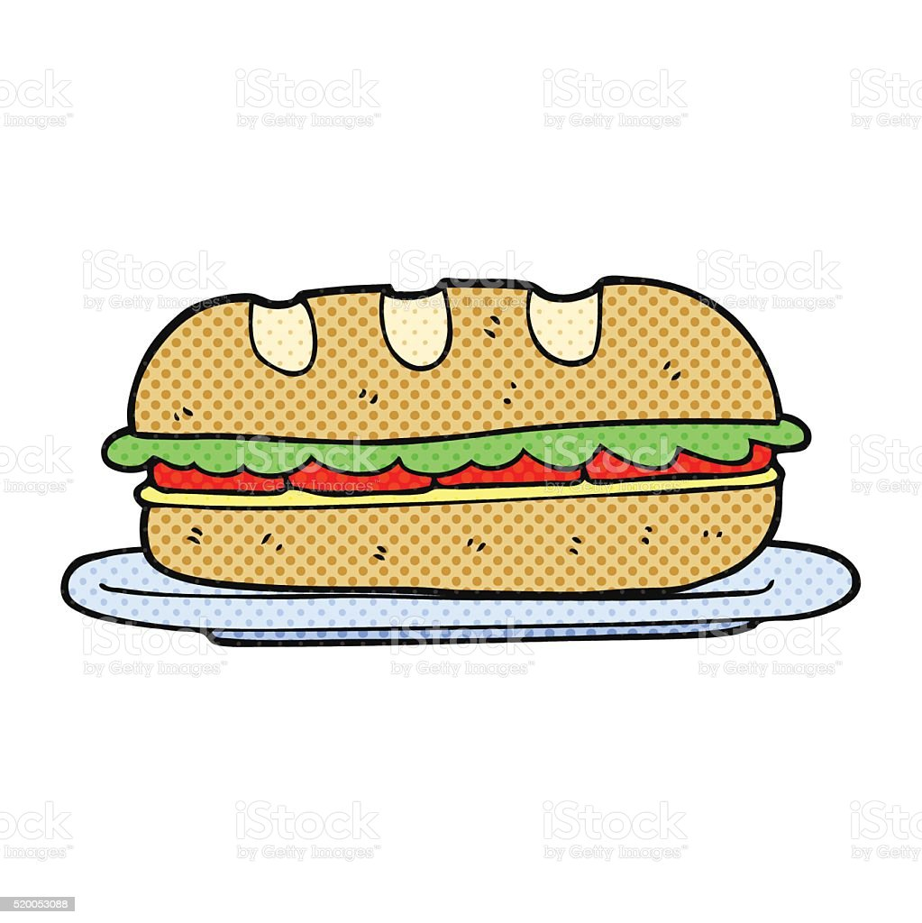 Cartoon Sub Sandwich stock vector art 520053088 | iStock