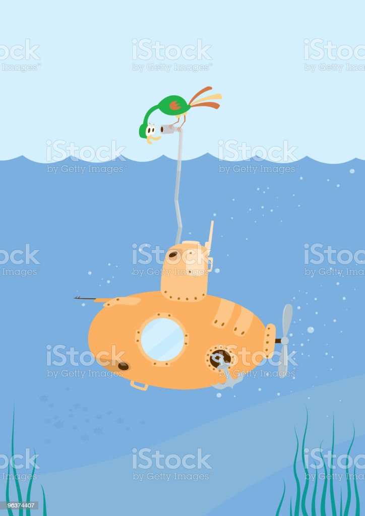 Cartoon Submarine royalty-free stock vector art