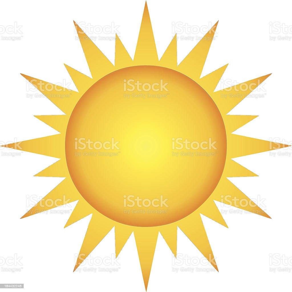 Cartoon Summer Hot Sun vector art illustration