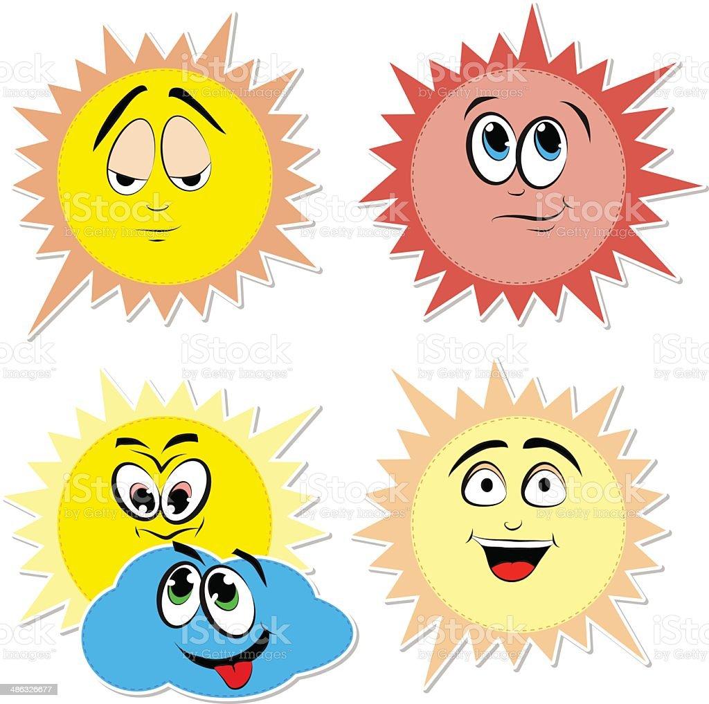 Cartoon sun set royalty-free stock vector art
