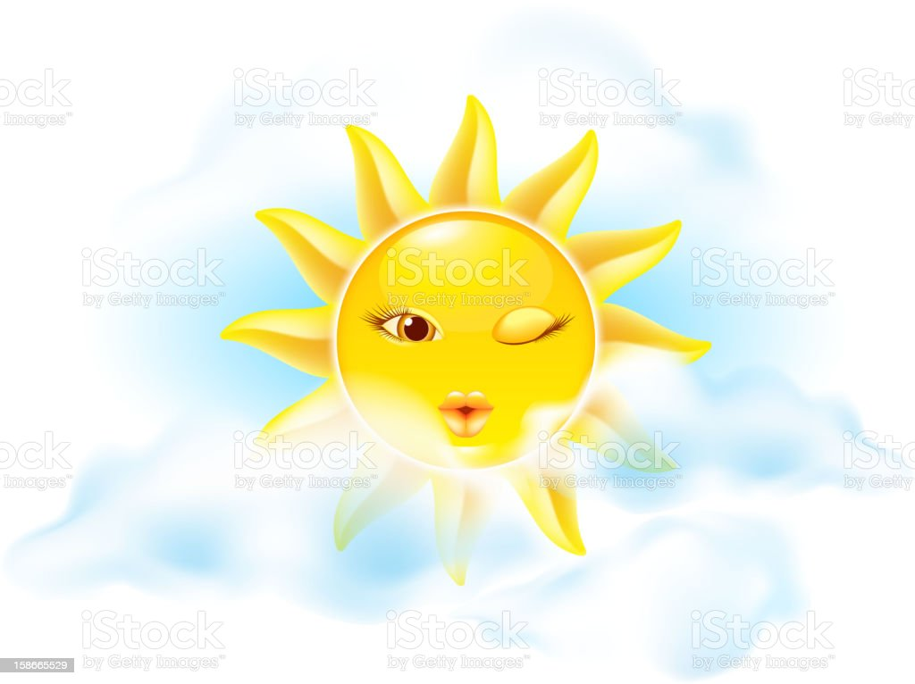 Cartoon sun royalty-free stock vector art