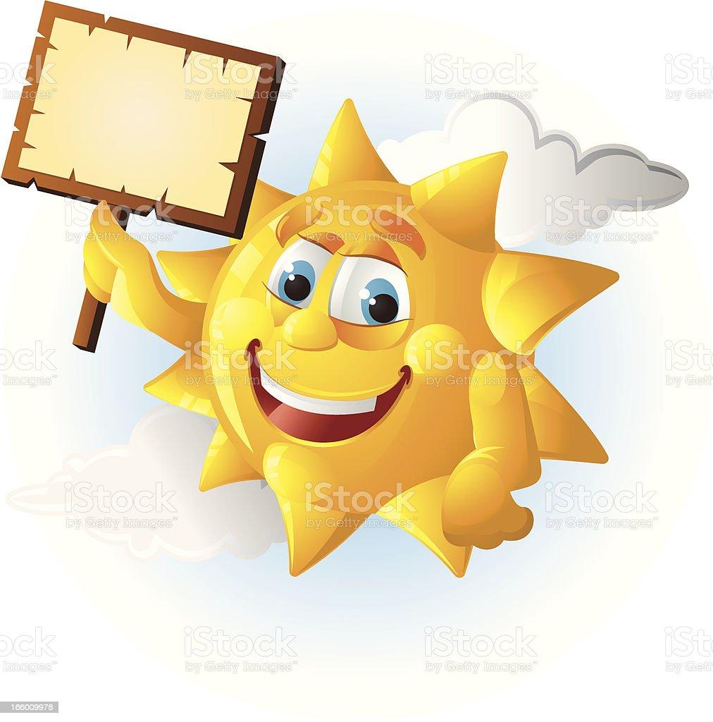Cartoon Sun royalty-free stock vector art