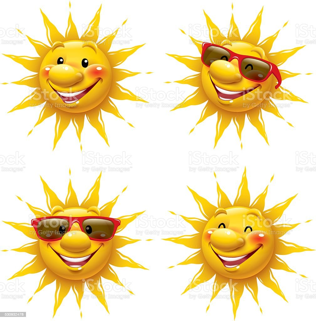 Cartoon Sun vector art illustration