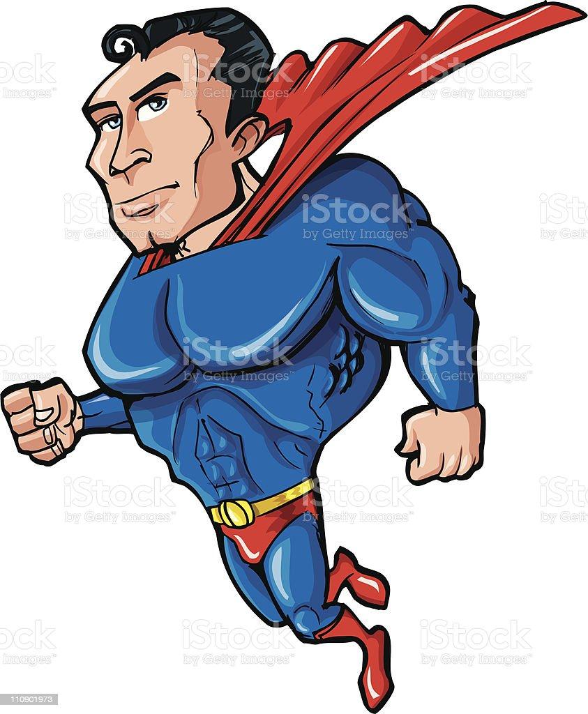 Cartoon superhero royalty-free stock vector art