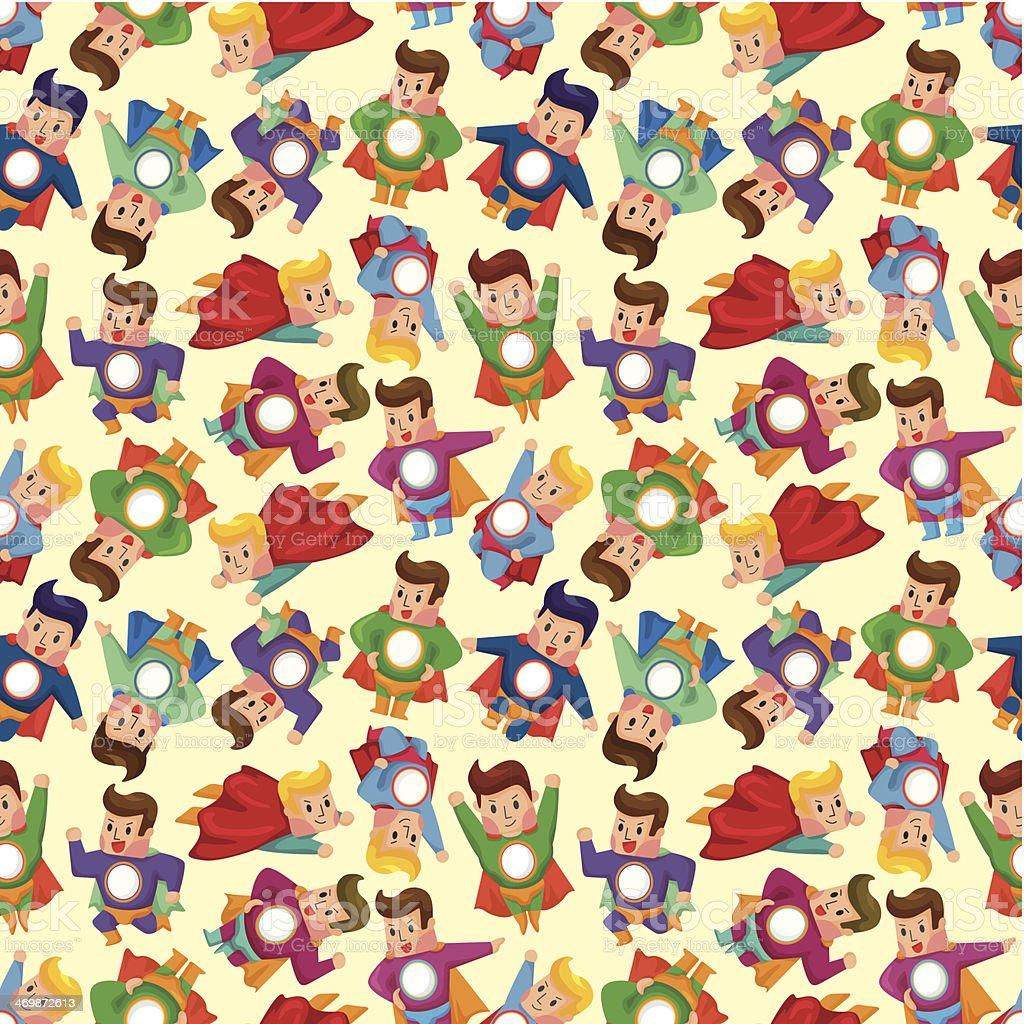 cartoon superman seamless pattern royalty-free stock vector art