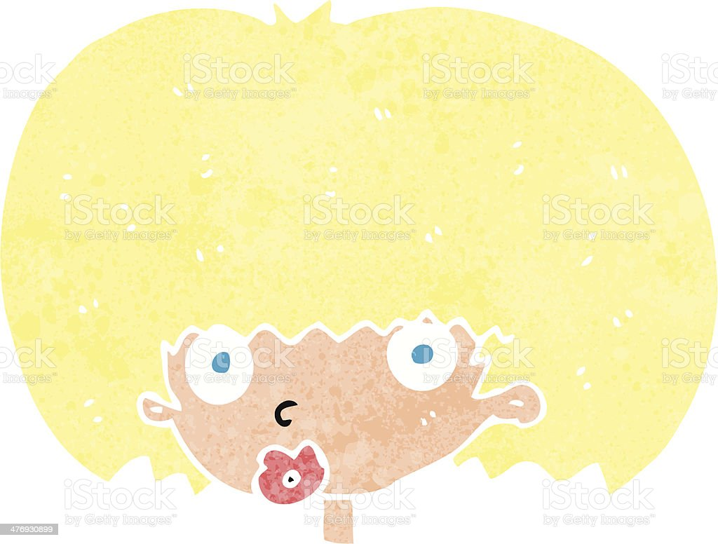cartoon surprised woman royalty-free stock vector art