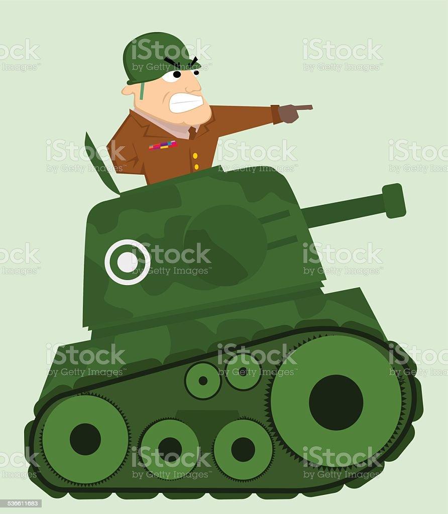 Débardeur en dessin animé avec soldat stock vecteur libres de droits libre de droits