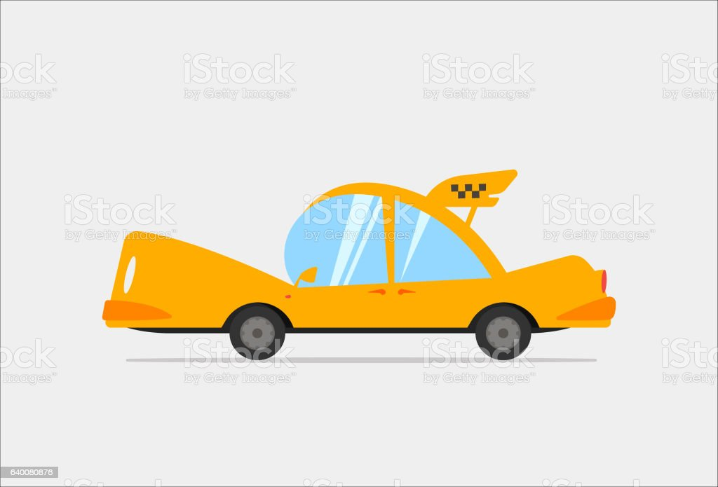 Cartoon Taxi Vector Illustration vector art illustration