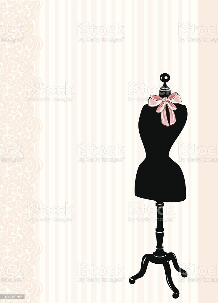 A cartoon template of a boutique mannequin vector art illustration