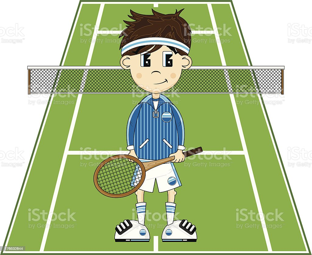Cartoon Tennis royalty-free stock vector art