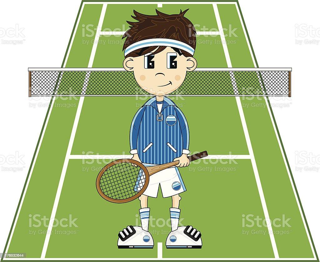Cartoon Tennis vector art illustration