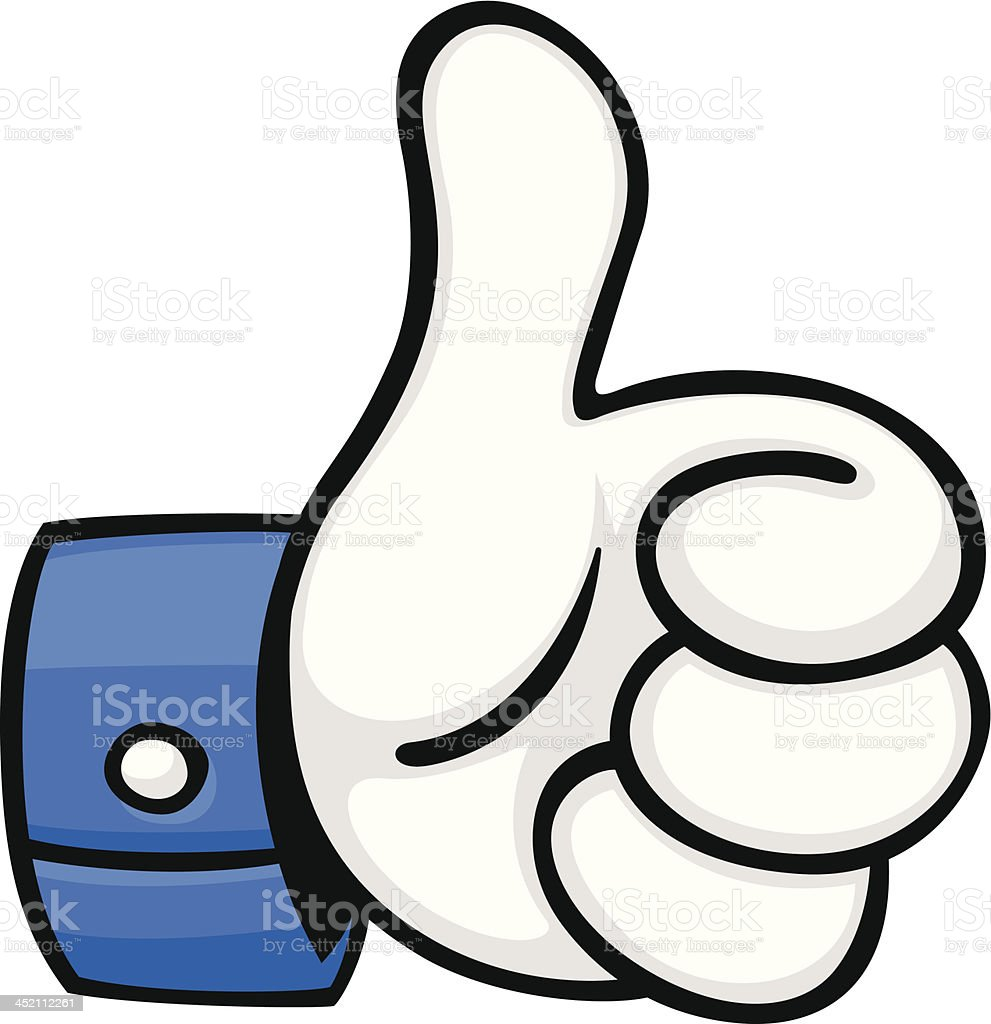 cartoon thumbs up royalty-free stock vector art