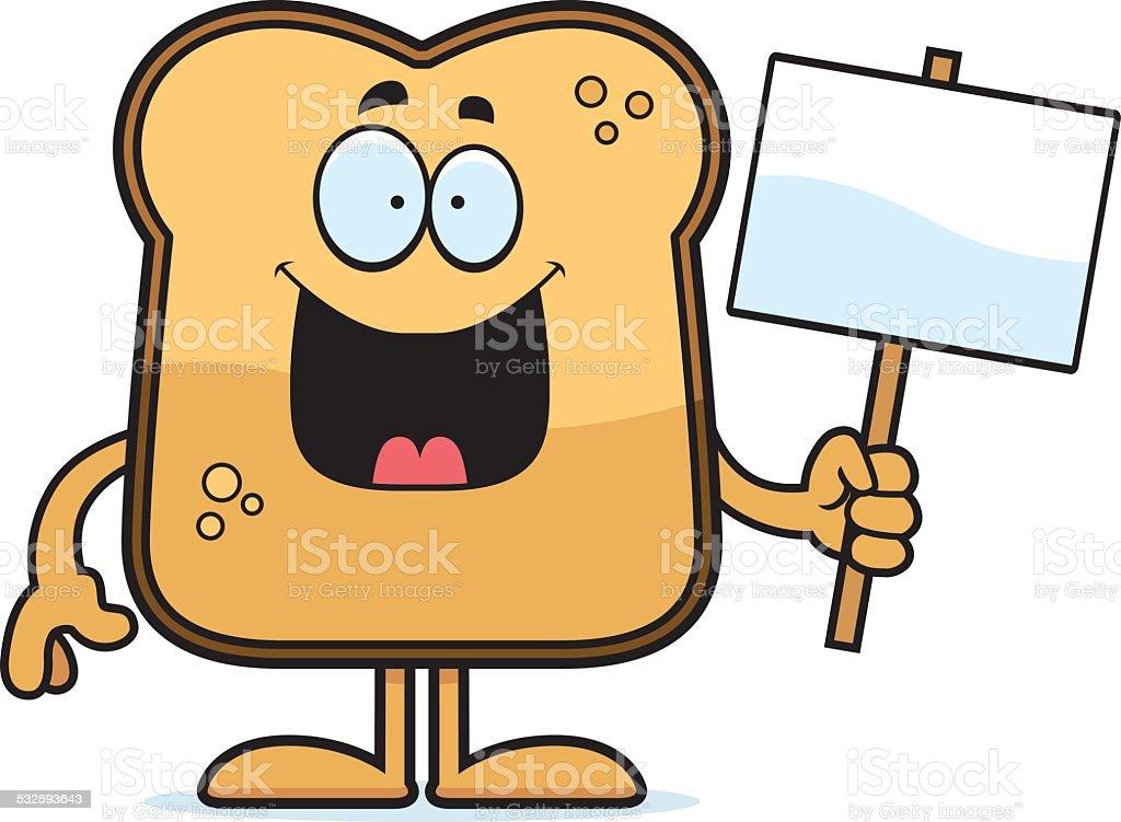 Cartoon Toast Sign vector art illustration