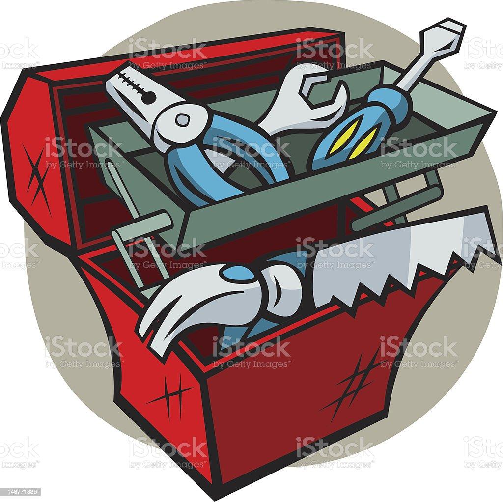 Cartoon Toolbox royalty-free stock vector art
