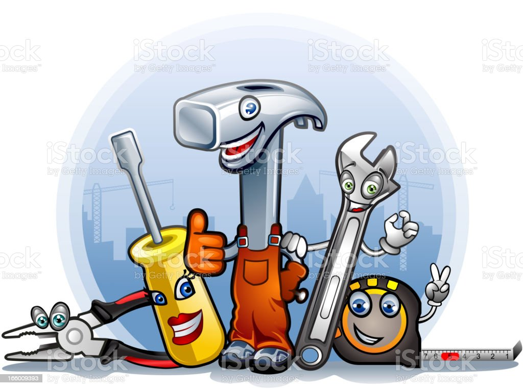 Cartoon tools royalty-free stock vector art