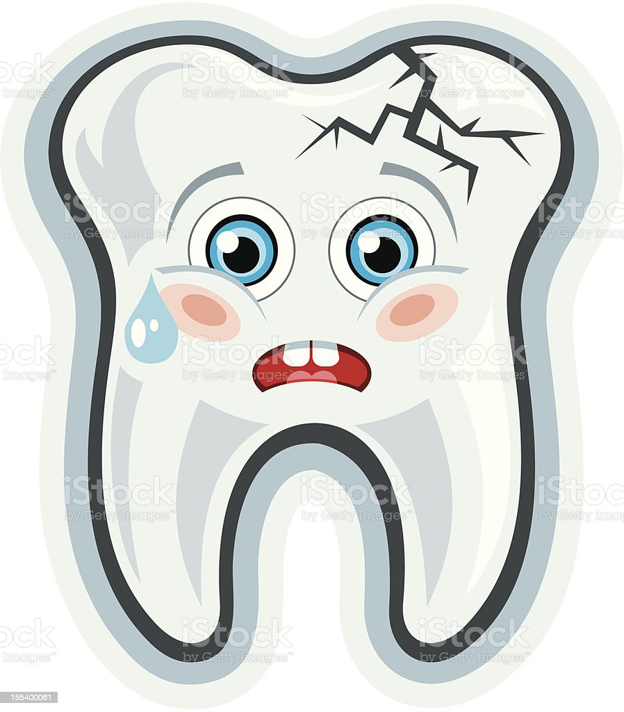Cartoon tooth.Toothache royalty-free stock vector art