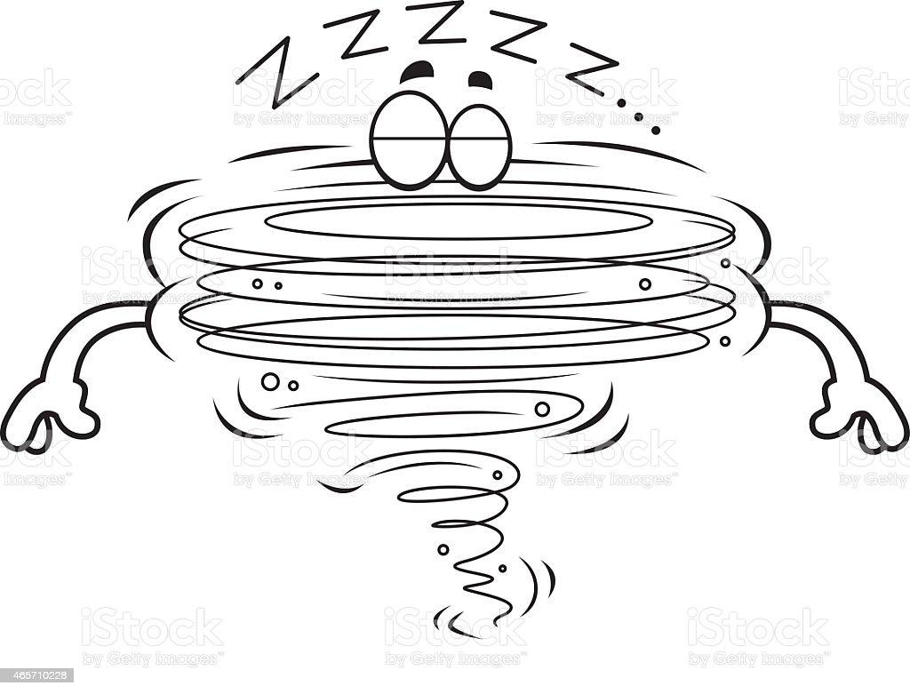 cartoon tornado sleeping stock vector art 465710228 istock
