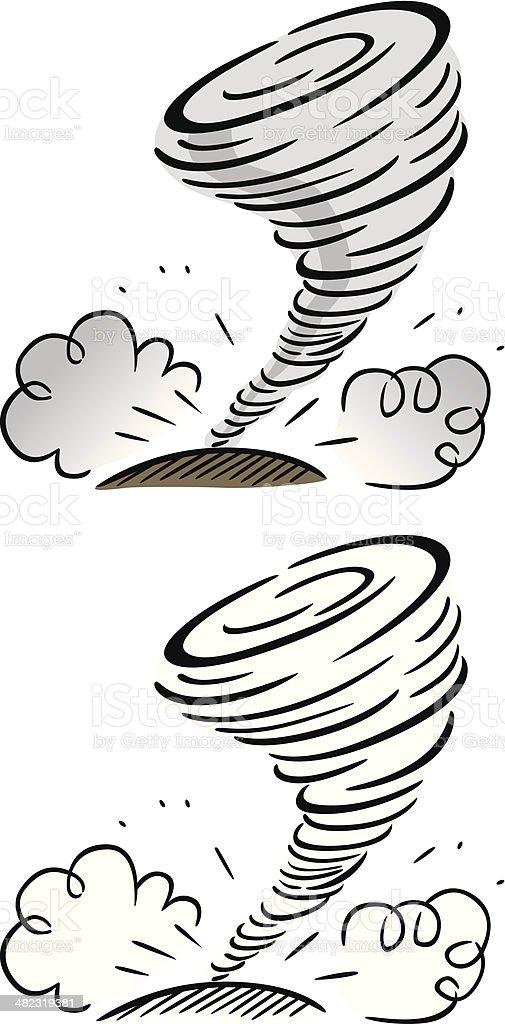 Cartoon Tornado royalty-free stock vector art