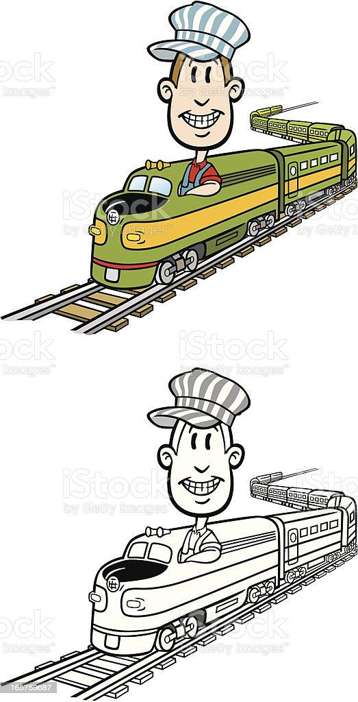 Cartoon Train vector art illustration