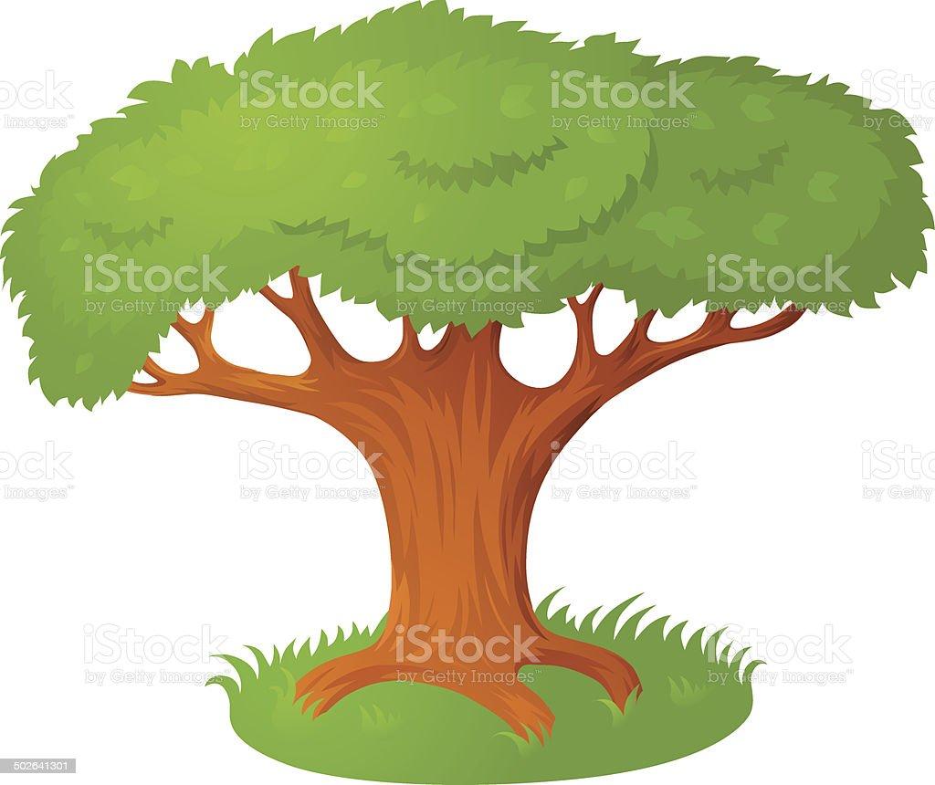 Cartoon tree vector art illustration
