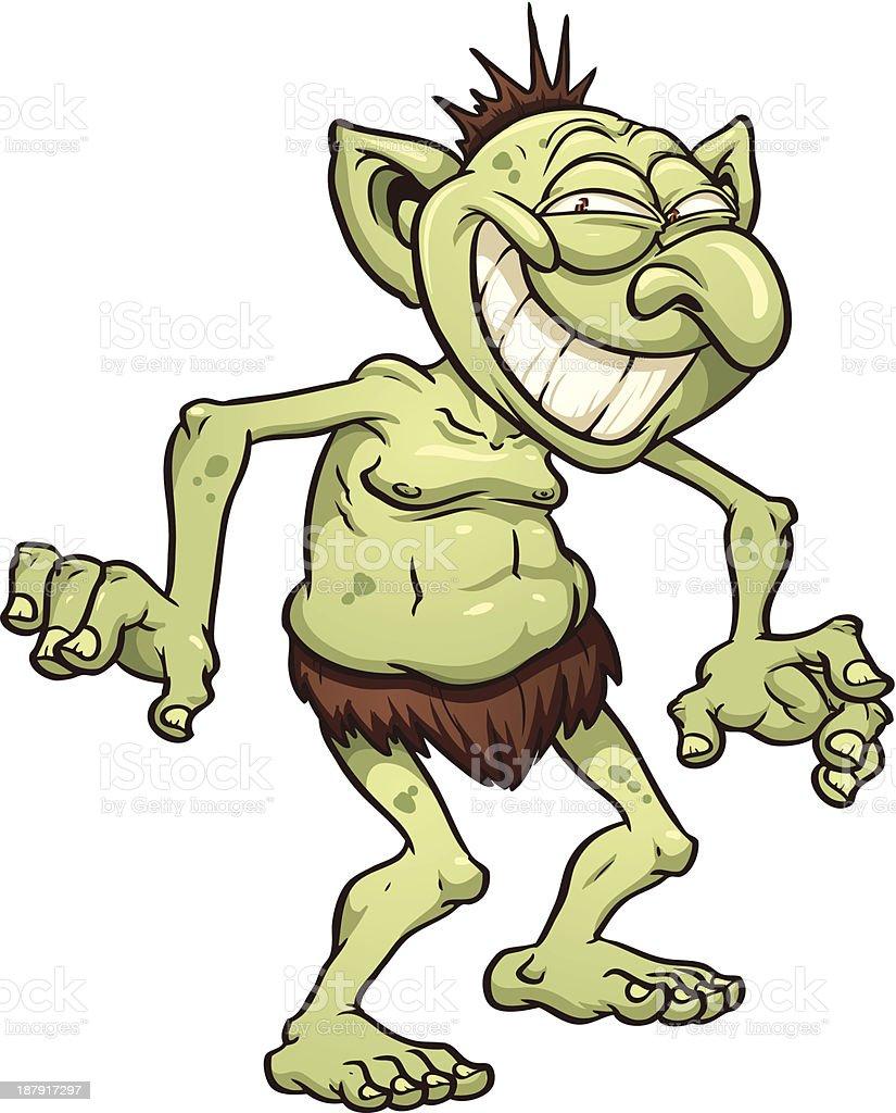 Cartoon troll royalty-free stock vector art