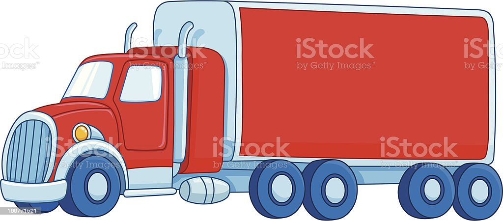 Cartoon truck vector art illustration