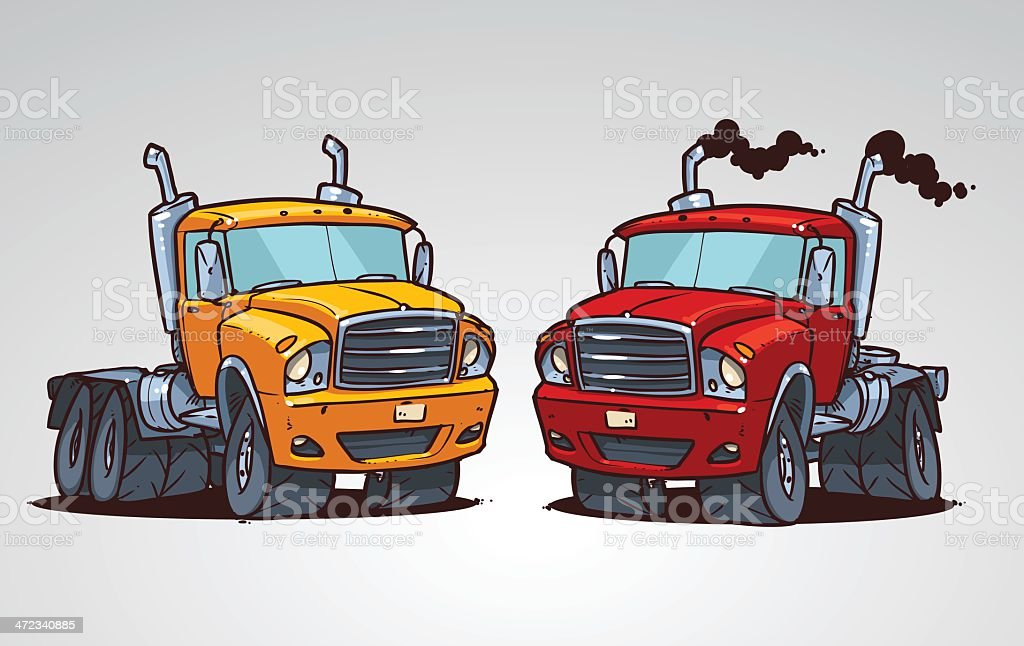cartoon truck royalty-free stock vector art
