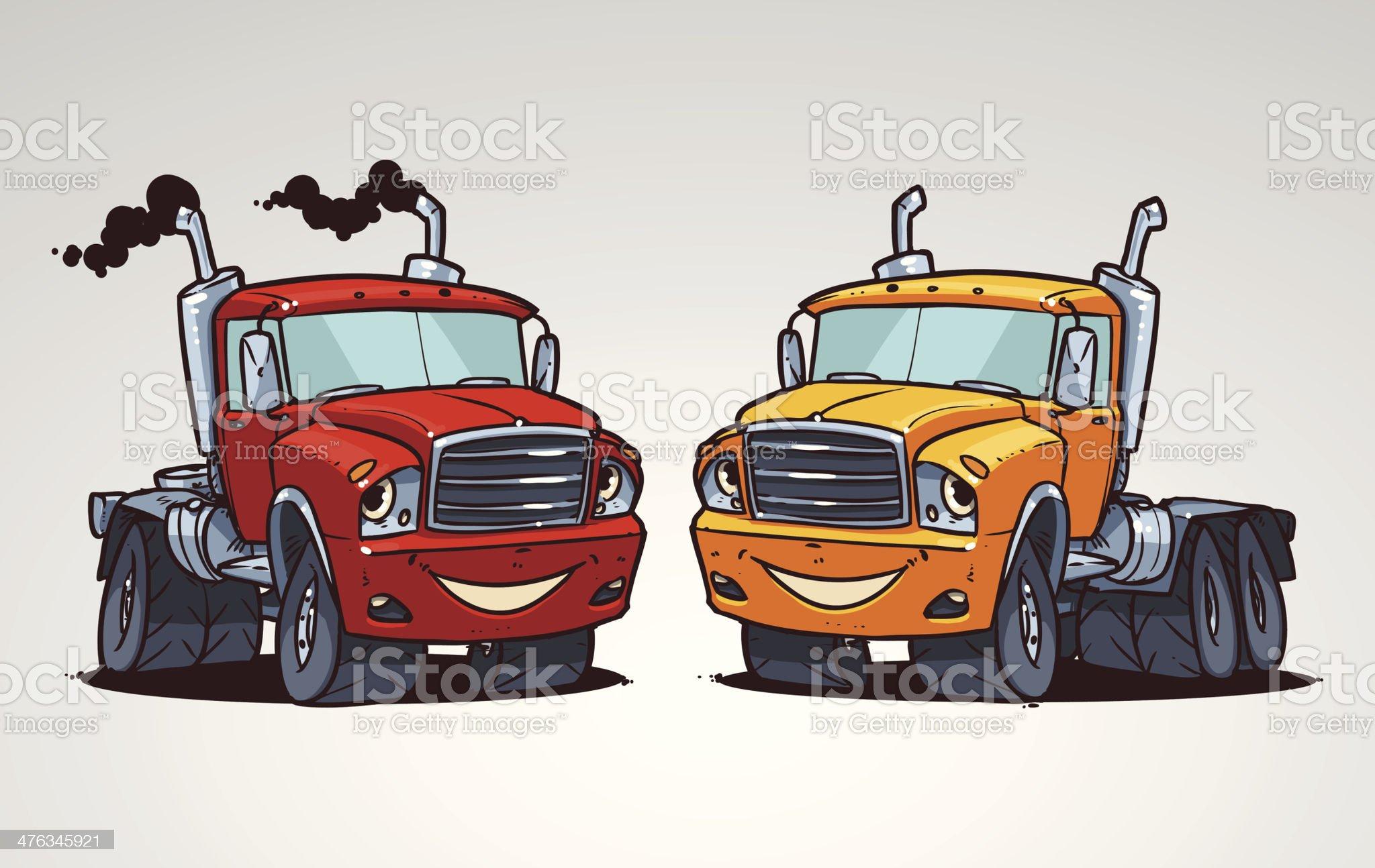 cartoon truck royalty-free stock vector art