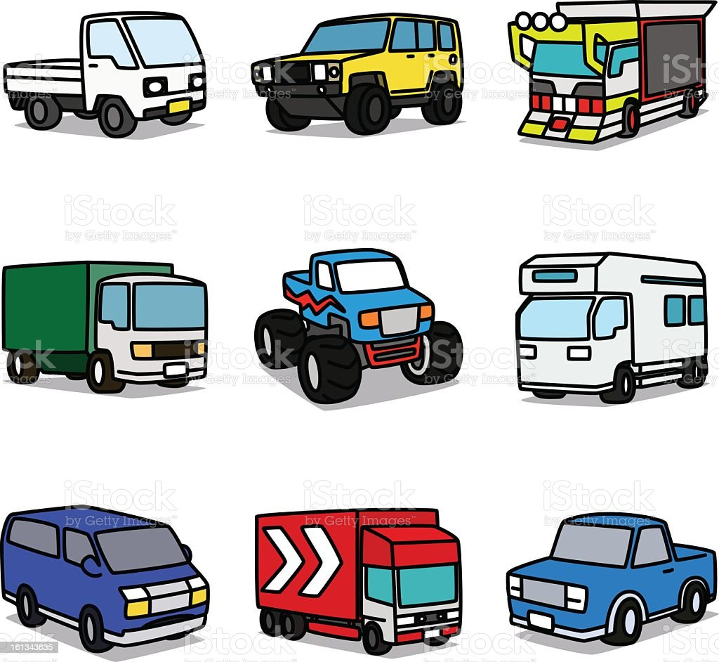 Cartoon Trucks royalty-free stock vector art