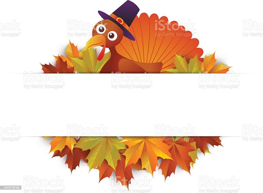 cartoon turkey vector art illustration