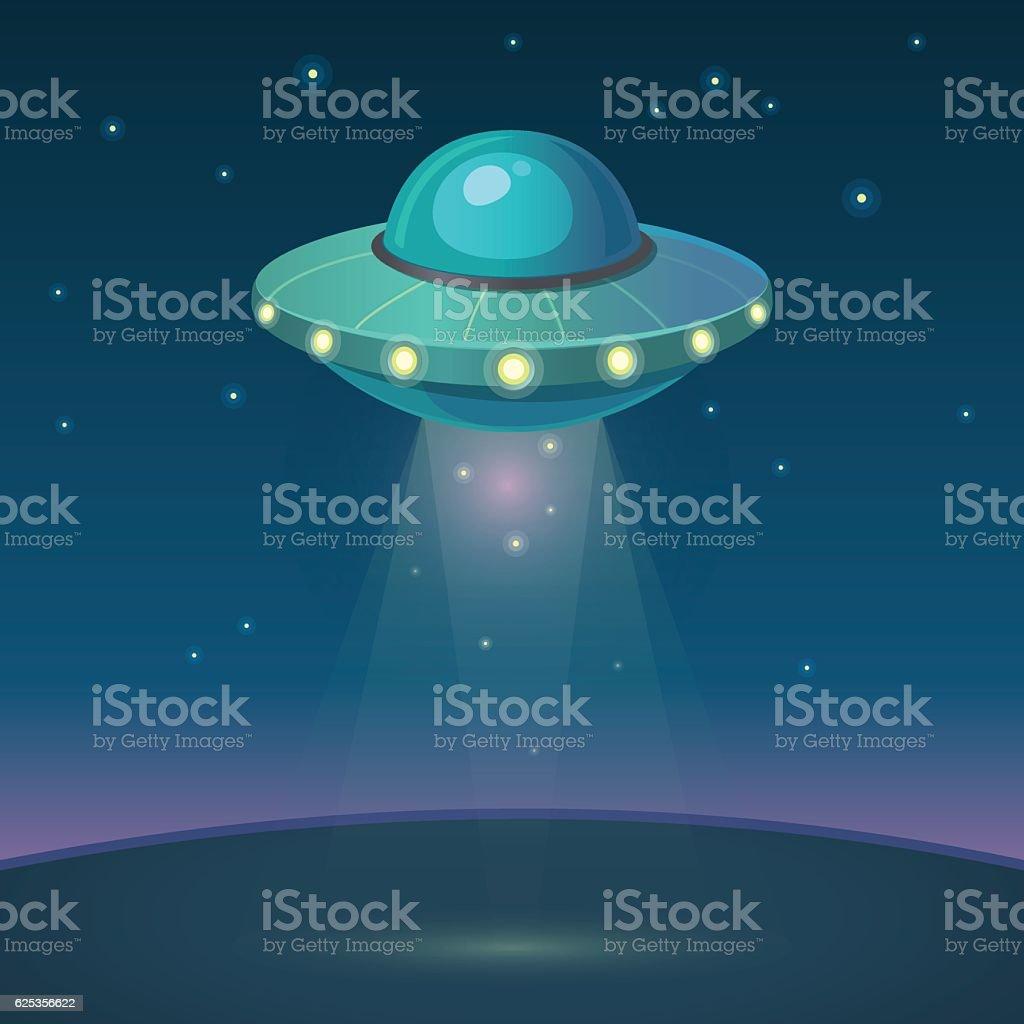 Cartoon UFO vector illustration vector art illustration