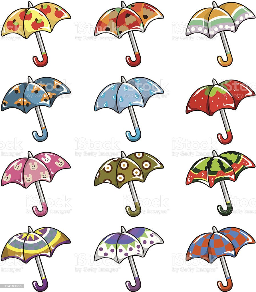 cartoon umbrella icon royalty-free stock vector art