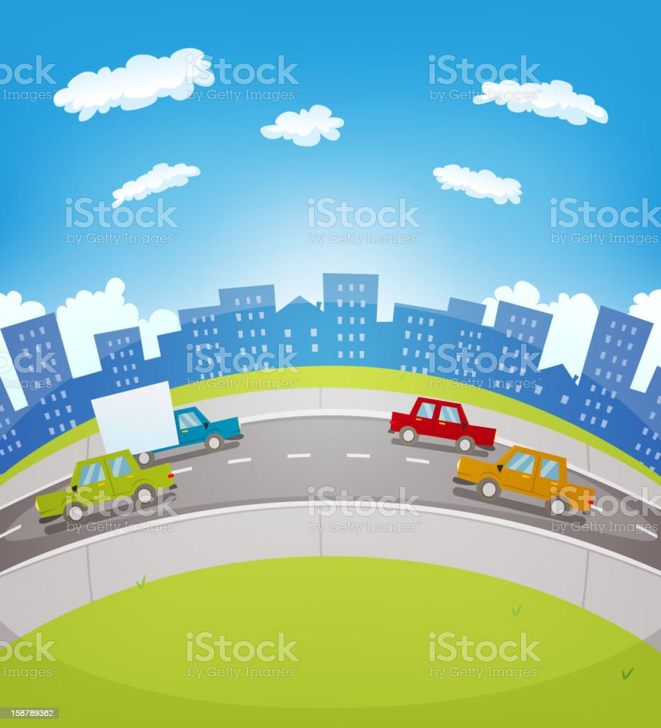 Cartoon Urban Traffic royalty-free stock vector art