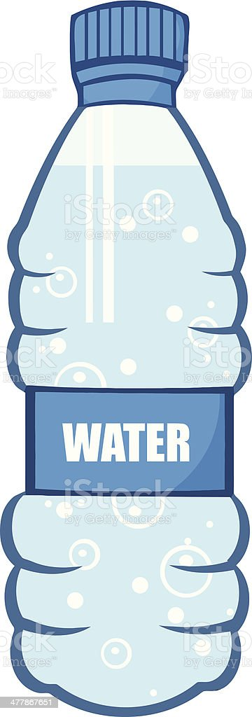 Cartoon Water Bottle vector art illustration